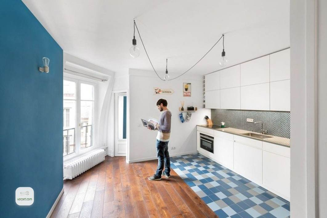 The combination of laminate and tile